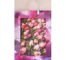 Пакет Бутоны роз L 40/С, мягкий пластик, 320*400+100мм, MagicPack