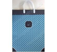 Пакет Голубой с узором L 119/С, мягкий пластик, 320*400+100мм, MagicPack