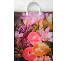 Пакет Весенние цветы L 131/С, мягкий пластик, 320*400+100мм, MagicPack