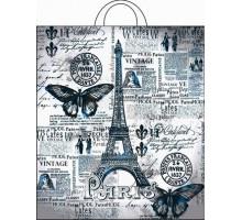 Пакет с петлевой ручкой, Парижский день, 38х42см, 40мкм, Интерпак