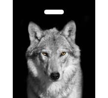 Пакет Волк, вырубная ручка, 450*380мм