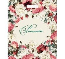 Пакет Благородные цветы, вырубная ручка, 450*380мм