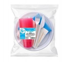 Набор одноразовой пластиковой посуды На природу, на 10 персон