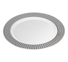 Тарелка пластиковая одноразовая, 260мм, PLMA Винтаж Кубики