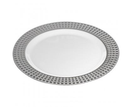 Пластиковая одноразовая тарелка, 260 мм, PLMA Винтаж Кубики