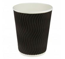 Гофрированный бумажный стакан, 250 мл, с повышенным слоем ламинации, 25шт/уп