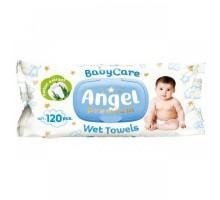 Детские влажные салфетки Angel Baby Care Premium с клапаном, 120 штук\уп