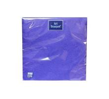 """Салфетка банкетная """"Барокко"""" темно-синяя, 33х33см, 3 слоя, с тиснением, Art Bouquet"""