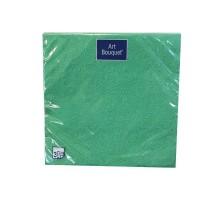 """Салфетка банкетная """"Барокко"""" темно-зеленая, 33х33см, 3 слоя, с тиснением, Art Bouquet"""