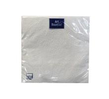 """Салфетка банкетная """"Барокко"""" серебро, 33х33см, 3 слоя, с тиснением, Art Bouquet"""
