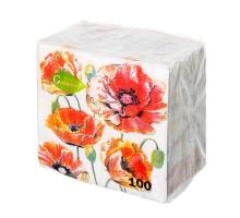 Бумажные салфетки Garmonia, 24*24см, 100шт, в ассортименте