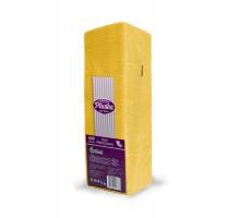 Салфетка бумажная Plushe Интенсив, 24x24см, желтая, 1-слой, 400 штук/уп