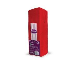 Салфетка бумажная Plushe Интенсив, 24x24см, красная, 1-слой, 400 штук/уп