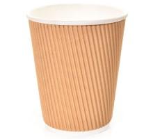 Стакан одноразовый бумажный Twistcup, 250 мл, гофрированный, крафт, Complement