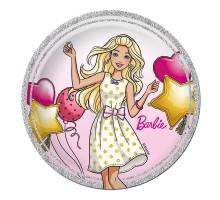 Тарелка бумажная, детская, 180мм, 10 шт/уп, Barbie, 0505.078