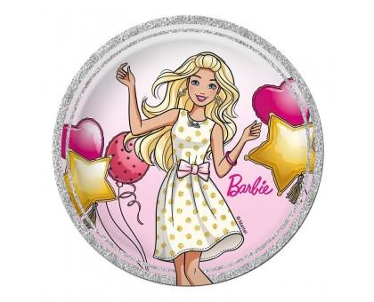 Тарелка бумажная, детская, 230мм, 10 шт/уп, Barbie, 0506.078