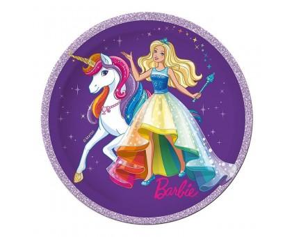 Тарелка бумажная, детская, 230мм, 10 шт/уп, Barbie, 0506.079