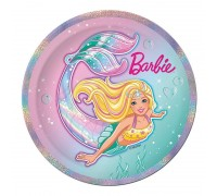 Тарелка бумажная, детская, 230мм, 10 шт/уп, Barbie, 0506.080