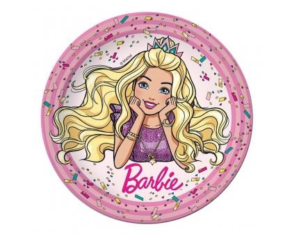 Тарелка бумажная, детская, 230мм, 10 шт/уп, Barbie, 0506.081