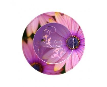 Тарелка одноразовая бумажная лакированная, 230мм, Шепот цветов, 50 шт/уп