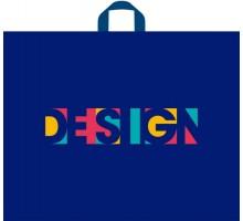 Пакет Дизайн Блю, петлевая ручка, 550х700х0,090, Тико-Пластик
