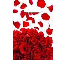 Пакет Лепестки роз NEW, вырубная ручка, 300х200х0,030, Тико-Пластик