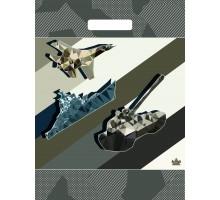 Пакет Военный парад, вырубная ручка, 400х310х0,060, Тико-Пластик