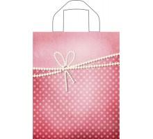 Пакет Жемчужный бант, петлевая ручка, 350х280х0,055, Тико-Пластик