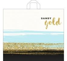Пакет Золотой песок, петлевая ручка, 500х600х0,060, Тико-Пластик