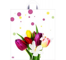 Пакет Весна пришла, петлевая ручка, 400х360х0,037, Тико-Пластик