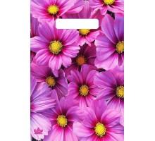 Пакет Яркие хризантемы, вырубная ручка, 300х200х0,030, Тико-Пластик