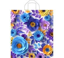Пакет Зимний сад, петлевая ручка, 420x380x0,037, Тико-Пластик