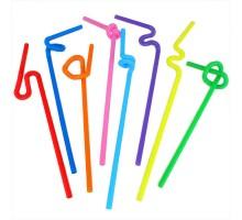 Трубочка для напитков, пластиковая, Артистик, цветная, 6х270мм, 100 штук/уп