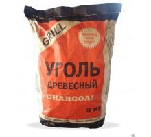 Уголь древесный, для мангала, 3 кг
