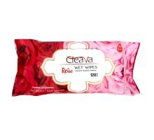 Влажные салфетки CLEAVA ROSE, 120 штук в упаковке