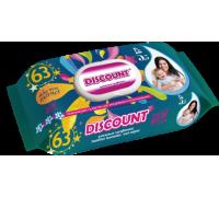 Влажные салфетки Discount с пластиковой крышкой для детей с экстрактом ромашки, 63 шт