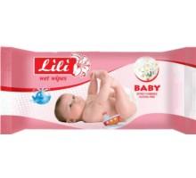 Детские влажные салфетки Lili, 40 шт/уп, с экстрактом ромашки