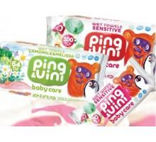 Влажные салфетки PING&VINI, BabyCare, 100 штук в упаковке