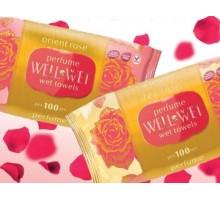 Влажные салфетки Well&Wet, 100 штук, oriental, gold, rose, tea rose